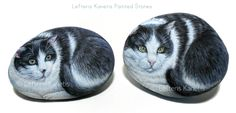 Tom and Sally Portraits Painted Stones, ( Commissioned Pieces )