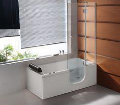 MaXXwell badekar med dør. Højrevendt model