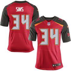 3f8cf354124 Alterraun Verner Men s Elite Red Jersey  Nike NFL Tampa Bay Buccaneers Home