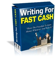 "Writing For Fast Cash will tell you all you need to know when it comes to ""publishing your way to profits"". When you secure your copy today, you will uncover:"