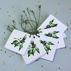 Christmas Gift Tags 'Ivy'. by TheBotanicalConcept on Etsy