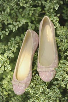 For her shoes, the bride wore a pair of blush pink ballet flats with ribbons. Chic Wedding, Wedding Ideas, Pink Ballet Flats, Rustic Shabby Chic, Bridal Shoes, Ribbons, Blush Pink, Wedding Planner, Bride