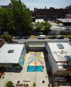 architensions reinterprets the tent typology with a public space activator in new york | Netfloor USA