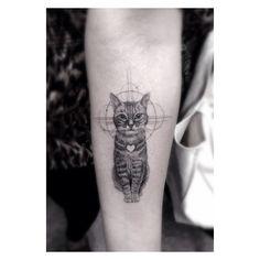 #Tatuaje #Gatito lindoo 7