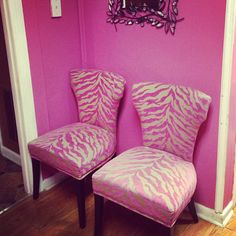 Great These Chairs! Zebra PrintLeopard ...