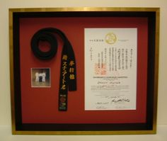 display taekwondo belts and boards - Google Search