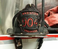 The Crew is our custom leather firefighter helmet shield where you can display your department name, rank, your name or whatever else you would like.