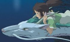 Post a pic of ur 1 Fav Hayao Miyazaki anime movie. My fav Hayao Miyazaki anime movie is. Princess Mononoke question and answer in the Anime club Spirited Away Movie, Spirited Away Haku, Miyazaki Spirited Away, Art Studio Ghibli, Studio Ghibli Movies, Hayao Miyazaki, Totoro, Top 5 Anime, Manga Anime