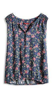 Esprit / Mouwloze blouse van licht materiaal