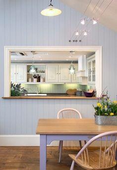 New Kitchen Window Ledge Decor Breakfast Bars 65 Ideas Kitchen Pass, Open Kitchen And Living Room, New Kitchen, Pass Through Kitchen, Pass Through Window, Gite Rural, Deco Studio, Trendy Home, Home Remodeling