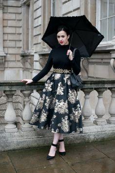 Arabella Golby at London Fashion Week 2014