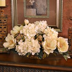 Cream Magnolia and Hydrangea Silk Floral Centerpiece Floral Home Decor http://www.amazon.com/dp/B010H9ZBSY/ref=cm_sw_r_pi_dp_Riumwb0NNQHT0