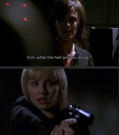 Nina Myers and Kim Bauer; Go Kim, shoot Nina!, wait......she needs to be electrocuted in the chair!