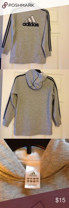 Adidas Gray Sweatshirt Kids Like New! Barely Worn! Adidas Shirts & Tops Sweatshirts & Hoodies