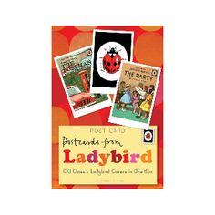 Postcards From Ladybird : 100 Covers In One Box: Ladybird books also make us feel like kids all over again. This delightful box of postcards features 100 different covers from beloved Ladybird books from the 1940s to 1970s.   -Features the first ever Ladybird book Bunnikin's Picnic Party -Classics Well-Loved Tales and How It Works -Selection from over thirty years of beloved Ladybird illustration  -Sturdy little gift box.   A perfect nostalgia gift for all Ladybird fans
