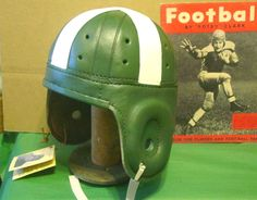 Michigan State Leather Football helmet