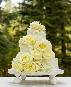 Photo: Mike Larson Private Estate  Vineyard Wedding Photographer // Event Design: One Fine Day Events // Featured: The Knot Blog Wedding Cake Roses, Rose Wedding, Wedding Cakes, Floral Wedding, Purple Wedding, Spring Wedding, Wedding Flowers, Gorgeous Cakes, Pretty Cakes