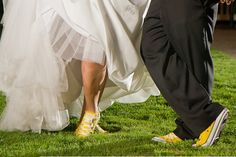 Quinceanera and Chambelan Showing Off The Sneakers - luv this idea! Then she changed to heels at the dance!