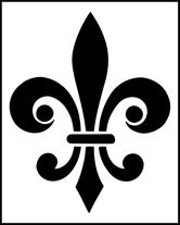 "3 - Fleur de Lys Size: 5 x 4"" (127 x 102mm) Price: $8.33 add to basket » Information: A motif stencil can be used singly or repeated in either a random or regimented pattern. To repeat a motif in a regimented pattern, have a look at our Gridfinder guide: a tool for marking out regular grids quickly, accurately and easily. It is listed in the ""Accessories"" section."