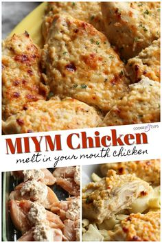 """MIYM Chicken is an easy chicken recipe that my family LOVES! A spin on the classic """"Melt In Your Mouth"""" Chicken recipe that I grew up with, this is an easy, weeknight chicken breast recipe that your family will love! Chicken Tender Recipes, Recipe Chicken, Best Chicken Breast Recipe Ever, Chicken Pieces Recipes, Taco Recipe, Cooking Recipes, Healthy Recipes, Calories, Nutrition"""