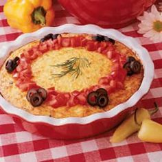 Crustless Cheese Quiche- so easy and so yummy. I make it often and it is well liked around our home.