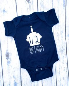 Half Birthday Boy Onesie� | 6 month Birthday Onesie� | 6 Month Onesie� | Half Birthday Onesie | Boy Half Birthday Outfit