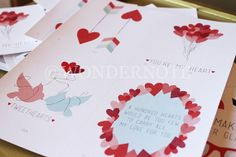Printable Valentine Cards Collection