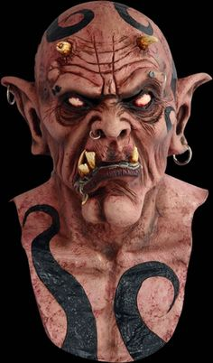 Deluxe full head mask with neck and upper chest. A Super deluxe quality mask which has been expertly painted with detail and colour Devil Halloween, Halloween Masks, Mascaras Halloween, Cyberpunk Rpg, Myths & Monsters, Horror Masks, Humanoid Creatures, Lion Sculpture, Sculptures