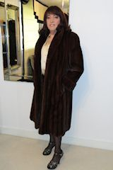 Cross dresser in fur, mink fur