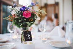 Rustic Table Numbers Mason Jar Table Numbers by reynawedding