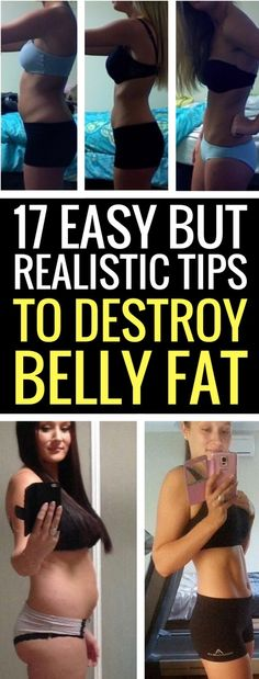 17 ways to lose belly fat quickly.