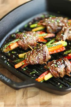 Asian Steak Roll Ups #grilling #fathersday