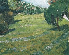 Art of the Day: Van Gogh, Sunny Lawn in a Public Park, July 1888. Oil on canvas, 60.5 x 73.5 cm. Collection Merzbacher, Zurich.
