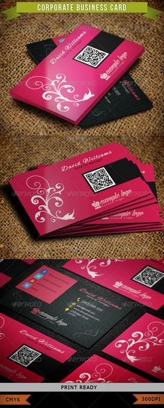 Corporate Business Card 004  #GraphicRiver         Include:   - Easy customizable and Editable PSD Template - Well Organized and Layered - CMYK Color Profile - 300 DPI - 3.5' x 2' - Print Ready!  Fonts used:  .fontsquirrel /fonts/alex-brush  .fontsquirrel /fonts/exo  .................................... You can also buy this as a bundle here -