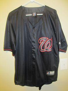 Washington Nationals Authentic BLACK jersey - Majestic Adult 48 | Sports Mem, Cards & Fan Shop, Fan Apparel & Souvenirs, Baseball-MLB | eBay!