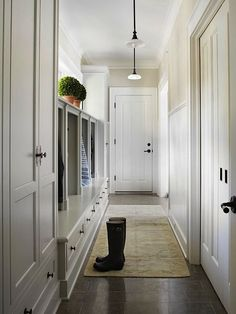 Mudroom inspiration- softer and lighter than previous pictures, I think those grays could work but something lighter and brighter will look nice with the floors you guys chose