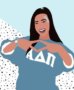 Excited to share this item from my shop: Sorority Digital Graphic (Sticker add on available) Sorority Canvas, Sorority Life, Sorority Paddles, Tri Delta, Alpha Delta, Delta Gamma, Go Greek, Greek Life, Sorority Big Little