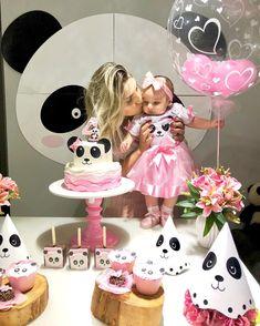 Panda Themed Party, Panda Birthday Party, Panda Party, Diy Birthday, Birthday Gifts, Birthday Parties, Panda Cakes, Pink Panda, Ideas Para Fiestas