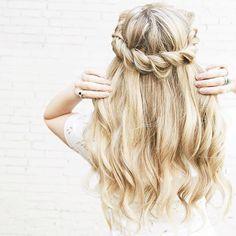 Beautiful half up half down prom hair