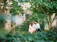 Fina art film wedding photography by Kati Rosado Photography | Savannah, Georgia engagement and wedding photography | engagement session at Wormsloe Historic Site and Historic Downtown Savannah on Jones Street | Contax 645 + Fuji 400h developed by Photovision