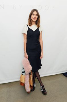 Alexa Chung Photos - Alexa Chung poses backstage for Noon By Noor during New York Fashion Week: The Shows at Gallery II at Spring Studios on February 8, 2018 in New York City. - Noon by Noor - Backstage - February 2018 - New York Fashion Week: The Shows