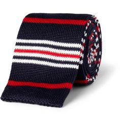 ETRO - striped knitted cotton tie