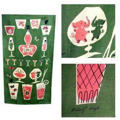 vintage tea towel from Plaid Pony Vintage
