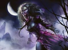In this post I have a selection of the awesome digital artworks made by Svetlin Velinov aka velinov. The artworks I feature here are for Magic The Gathering a very popular fantasy game. Fantasy Art Women, Dark Fantasy Art, Dark Art, Fantasy Rpg, Medieval Fantasy, Mythological Creatures, Fantasy Creatures, Mythical Creatures, Deadly Creatures