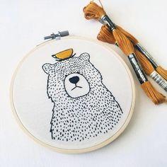 bear embroidery hoop