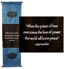 Inspirational Banners - Power of Love, Lotus, Hendrix | Topanien