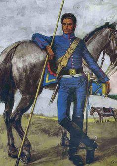 Soldado del regimiento de Granaderos a Caballo creado por José de San Martín.