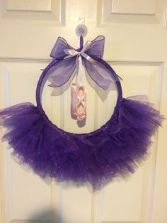 Items similar to Tutu Purple Sparkle Wreath with pink point shoes on Etsy … Items similar to Tutu Purple Sparkle Wreath with pink point shoes on Etsy Tulle Projects, Tulle Crafts, Ballerina Birthday Parties, Ballerina Party, Ballerina Project, Tutu Wreath, Diy Wreath, Princess Wreath, Bebe Shower