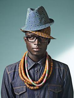 Denim Shirt, African Hats