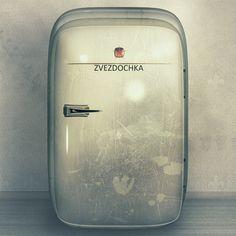 """Zvezdochka"" illustration of an ancient fridge"